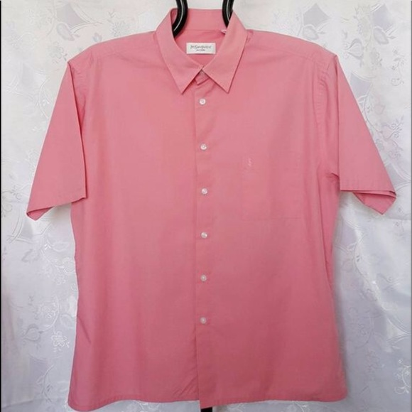 bb7b25d9b Yves Saint Laurent Shirts | Xl Ysl Mens Pink Buttondown | Poshmark